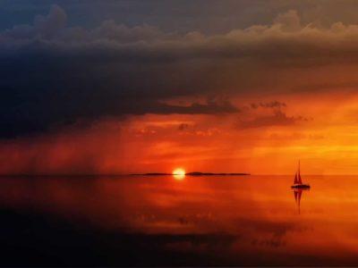 Yachtcharter Italien Sonnenuntergang